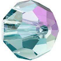 Swarovski Crystal 5000 Round Bead -6mm- Aquamarine Shimmer