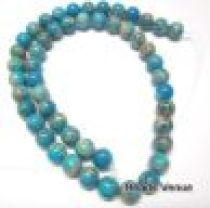 Impression Jasper Round 6.0mm- Turquoise - 40 Cms. Long Strand