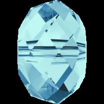 Swarovski Crystal Rondel Beads -6mm Crystal Aquamarine