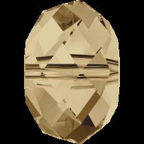 Swarovski Crystal Rondel (5040) Beads -6mm Crystal Golden Shadow