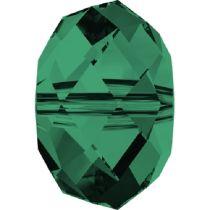 Swarovski Crystal Rondel 5040 Beads- 6mm- Emerald