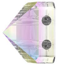 Swarovski Crystal 5061 Square Spike Bead (2 Hole) 7.5mm-Crystal AB