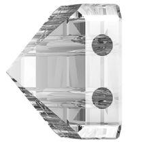 Swarovski Crystal 5061 Square Spike Bead (2 Hole) 7.5mm-Crystal