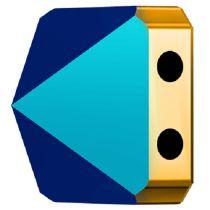 Swarovski Crystal 5061 Square Spike Bead (2 Hole) 7.5mm - Metallic Blue