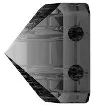 Swarovski Crystal 5061 Square Spike Bead (2 Hole) 7.5mm - Silver Night