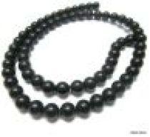 Black Onyx (dyed) Matt Plain R-6mm -16