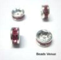 Rondelles Silver base -6mm-Rose