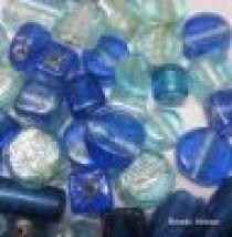 Silver Foil Mix(Medium Size) Beads-Blue