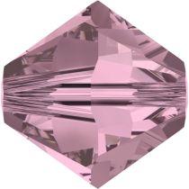 Swarovski  Bicone 5328-8mm -Crystal Antique Pink