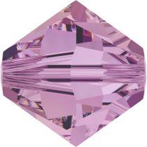 Swarovski Crystal Bicone 5328-4mm-Crystal Lilac Shadow
