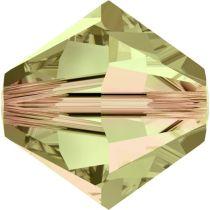 Swarovski Crystal Bicone 5328-6mm-Luminous Green
