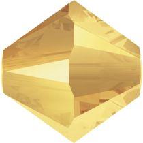 Swarovski Crystal Bicone 5328-6mm- Metallic Sunshine