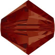 Swarovski Crystal Bicone 5328-4mm- Red Magma