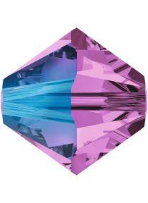 Swarovski Crystal Bicone 5328- 6 mm - Amethyst Shimmer