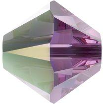 Swarovski Crystal 5328 Bicone Bead -6mm- Iris AB