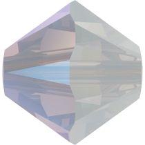 Swarovski Crystal 5328 Bicone Bead -6mm- White Opal Shimmer