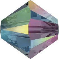 Swarovski Crystal Bicone 5328-4mm- Graphite AB 2X