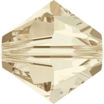 Swarovski Crystal Bicone 5328-6mm- Crystal Lt. Silk