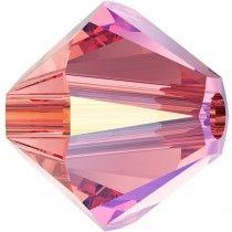 Swarovski Crystal 5328 Bicone Bead -6mm- Rose Peach Shimmer