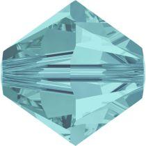Swarovski Crystal Bicone 5328-4mm-Factory Pack- Lt. Turquoise