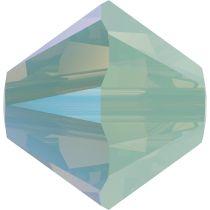 Swarovski Crystal 5328 Bicone Bead -6mm- Chrysolite Opal Shimmer