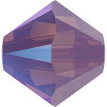 Swarovski Crystal 5328 Bicone Bead -6mm- Cyclamen Opal Shimmer