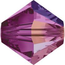Swarovski Crystal Bicone 5328-4mm - Fuchsia AB