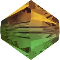 Swarovski Crystal Bicone 5328-4mm Fern Green Topaz Blend