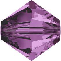 Swarovski Crystal Bicone 5328-2.5 mm - Amethyst - 1440 Pcs.