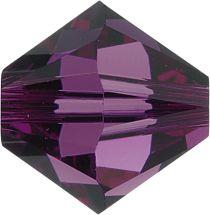 Swarovski Crystal 5328 Bicone- 3mm Crystal Amethyst