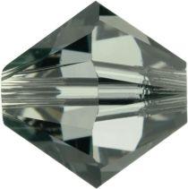 Swarovski Crystal Bicone 5328-6mm- Black Diamond