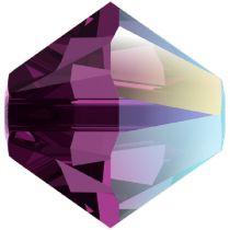 Swarovski Crystal Bicone 5328-4 mm - Crystal Amethyst Shimmer - 1440 Pcs.