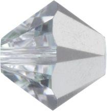 Swarovski  Bicone 5328-6mm-Crystal Comet Argent Light