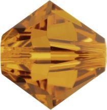 Swarovski Crystal Bicone 5328-4mm-Factory Pack -Crystal Copper