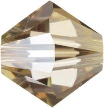 Swarovski  5328 Bicone- 3mm Crystal Golden Shadow