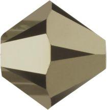 Swarovski Crystal Bicone 5328-4mm -METALLIC LT. GOLD 2X