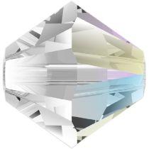 Swarovski Crystal Bicone 5328-6 mm - Crystal Shimmer - 360 Pcs.
