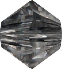 Swarovski  5328 Bicone- 3mm Crystal Silver Night