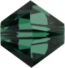 Swarovski Crystal Bicone 5328-6mm-Emerald