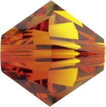 Swarovski Crystal Bicone 5328-6mm-Fire Opal