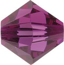 Swarovski Crystal Bicone 5328-4mm-Factory Pack -Crystal Fuchsia