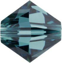Swarovski Crystal Bicone 5328-4mm- Indicolite