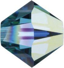 Swarovski Crystal Bicone 5328-4mm - Indicolite AB