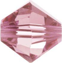 Swarovski Crystal Bicone 5328-4mm- Light Rose