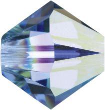Swarovski Crystal Bicone 5328-4mm - Lt. sapphire AB