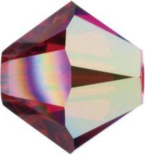 Swarovski Crystal Bicone 5328-6mm- Lt. Siam AB
