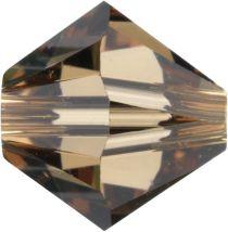Swarovski Crystal Bicone 5328-6mm-Light Smoke Topaz
