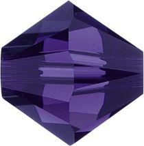 Swarovski Crystal Bicone 5328-6mm-Factory Pack- Purple Velvet