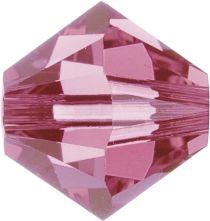 Swarovski Crystal Bicone 5328-6mm-Factory Pack -Rose