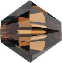 Swarovski Crystal Bicone 5328-4mm-Factory Pack - Smoked Topaz